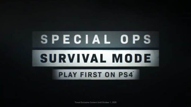 "PlayStation To Receive Modern Warfare's ""Survival Mode"" An Entire Year Early"