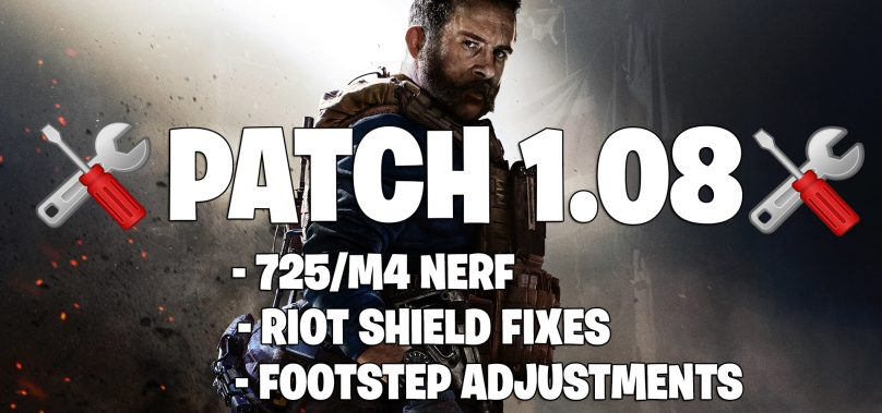 1.08 Modern Warfare Update Notes