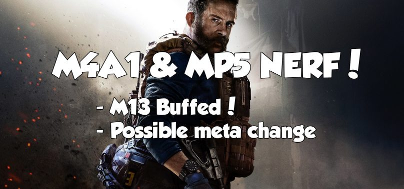 MP5 & M4A1 NERFED In Newest Modern Warfare Patch.