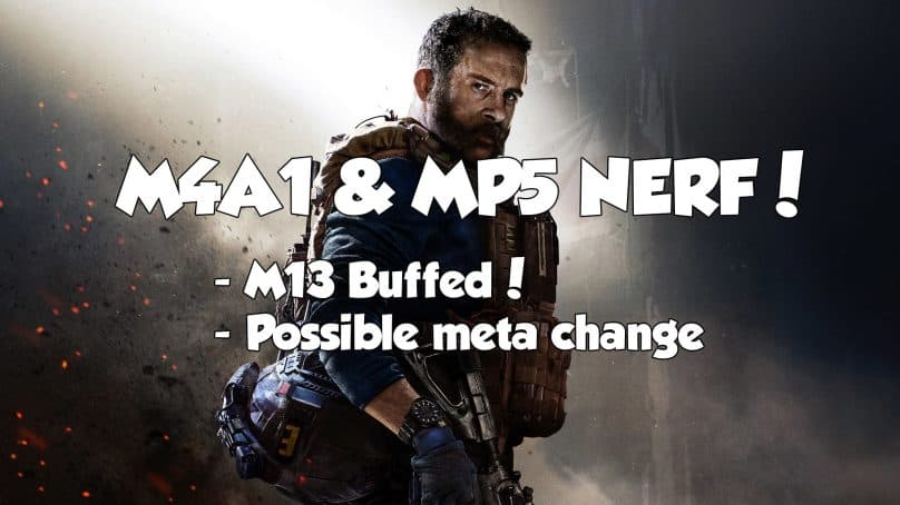 MP5 & M4A1 NERFED In Newest Modern Warfare Patch.