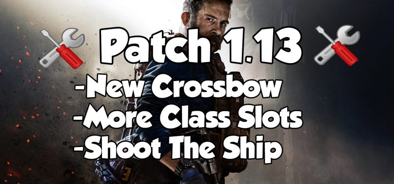 Modern Warfare Patch 1.13- Crossbow Added, RAM-7 Buffed, 5 New Loadout Slots